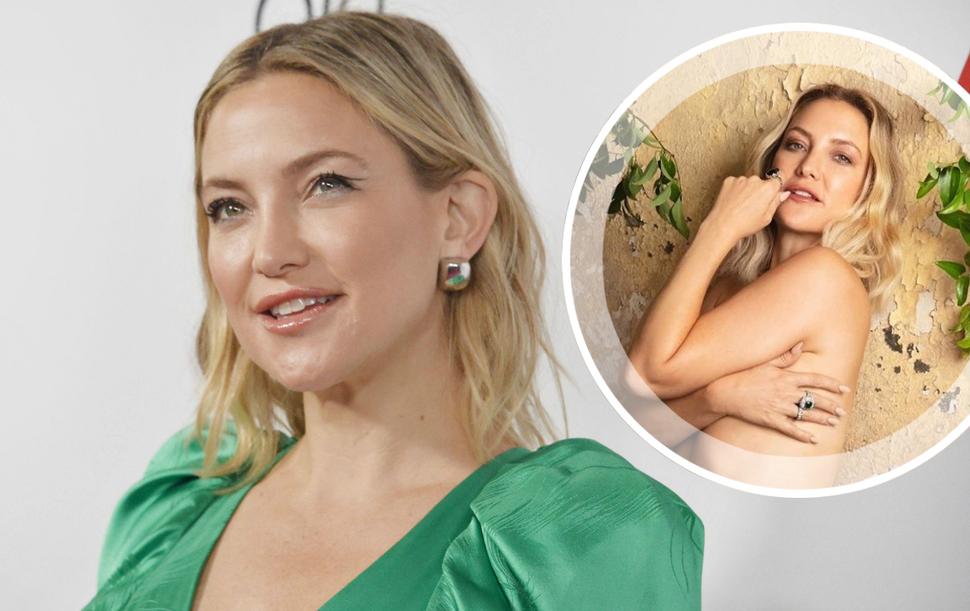 Кейт Хадсон похвасталась фигурой топлес спустя год после родов