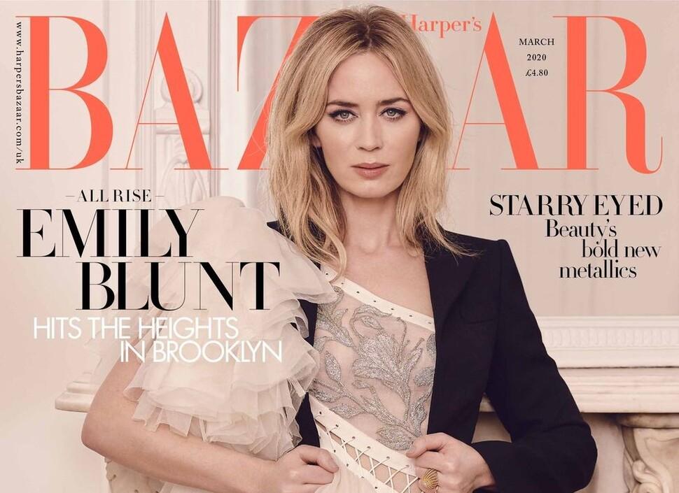 Эмили Блант снялась для Harper's Bazaar и рассказала о семейной жизни с Джоном Красински