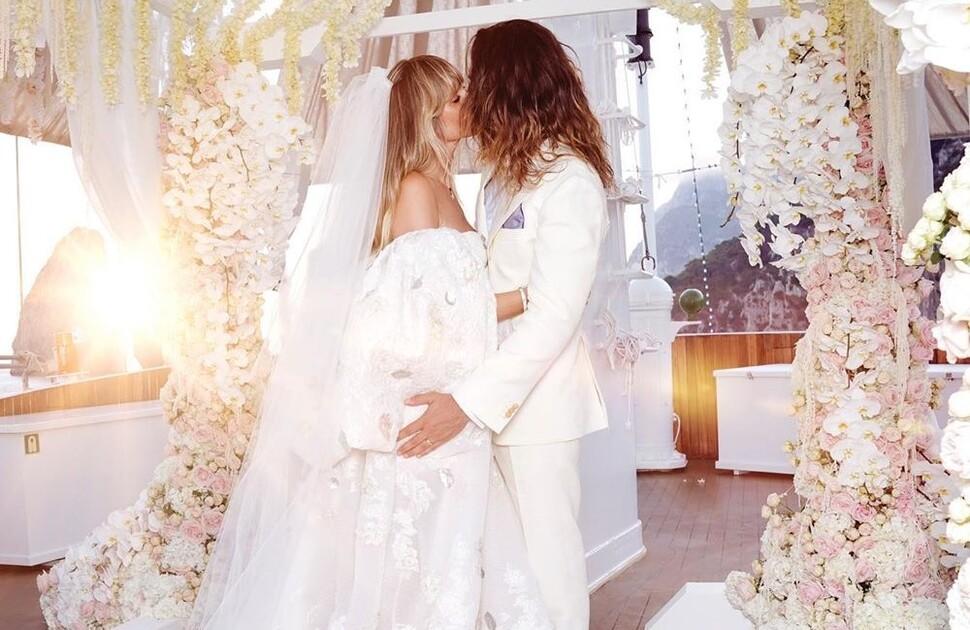 Хайди Клум впервые поделилась свадебным фото с Томом Каулитцем