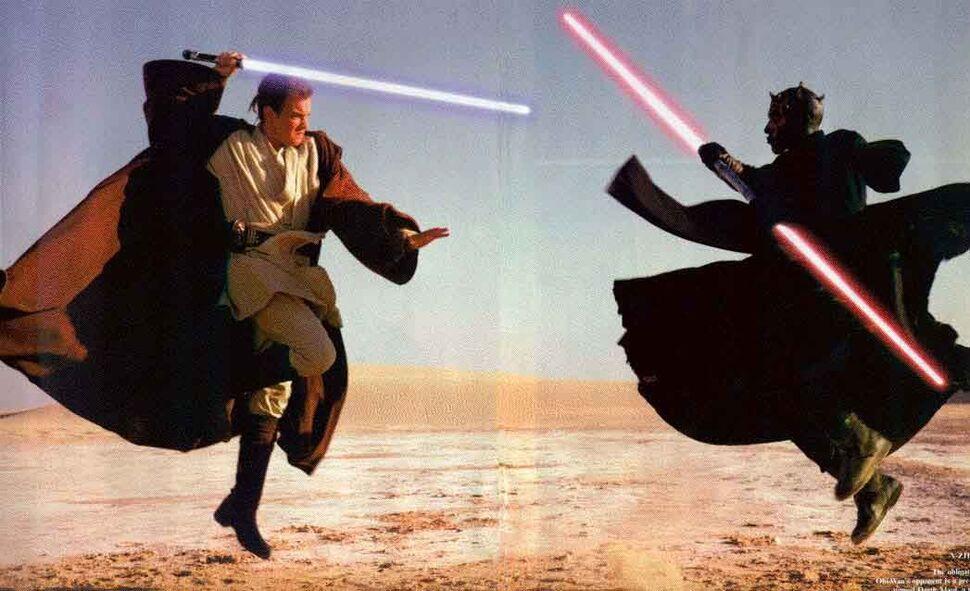 Джордж Лукас вырезал из приквела «Звездных войн» лучшую сцену драки на световых мечах