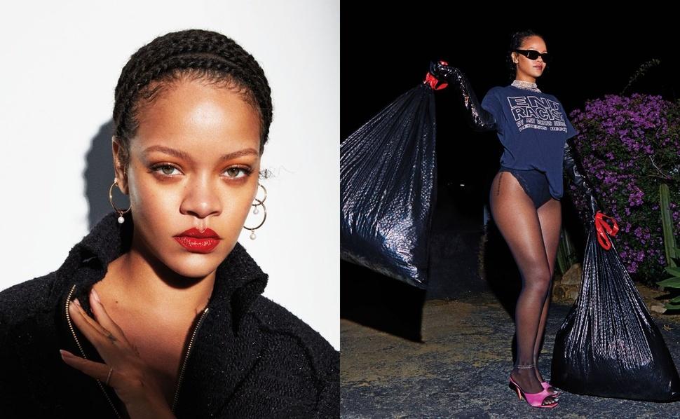 С пакетами мусора наперевес: Рианна украсила обложку Harper's Bazaar