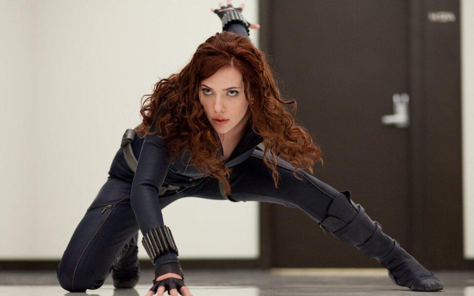 Фото: 23-летняя Скарлетт Йоханссон в костюме Черной Вдовы для тестовых съемок «Железного человека 2»