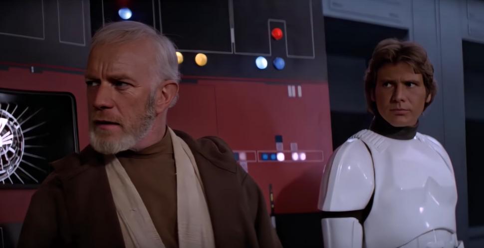 Видео: Алека Гиннесса заменили на Юэна МакГрегора в оригинальных «Звездных войнах»