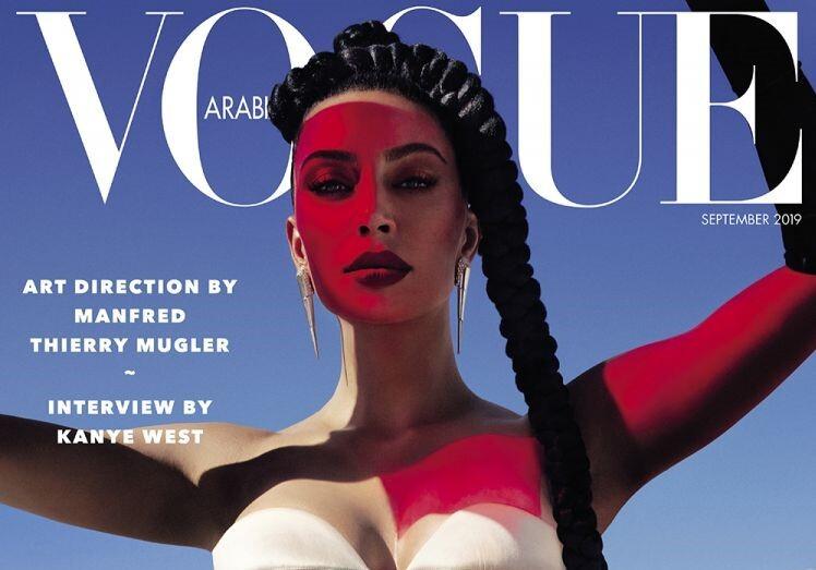 Ким Кардашьян снялась в фотосессии для арабского Vogue и дала интервью Канье Уэсту