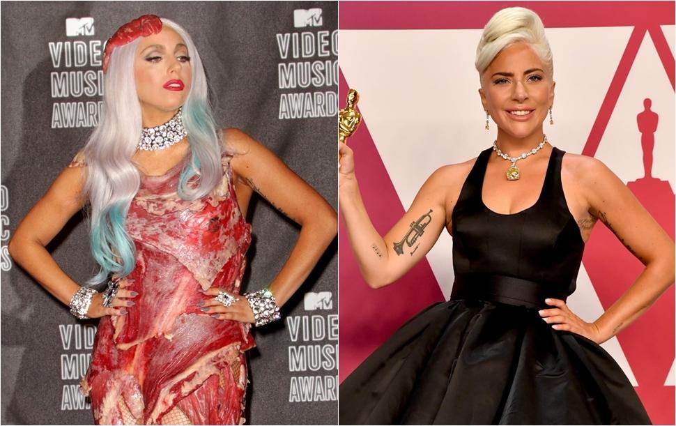 Эволюция стиля Леди Гаги: от платья из мяса до бриллиантов за 30 млн долларов