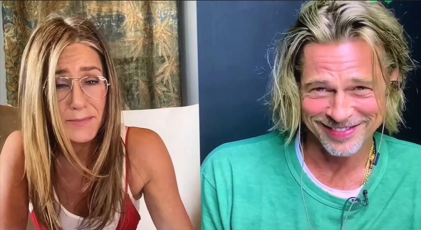 «Ты очень милый»: Дженнифер Энистон и Брэд Питт пофлиртовали в рамках онлайн-чтений