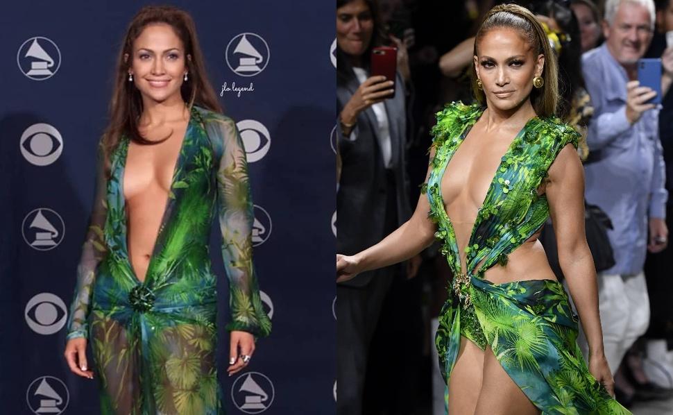 Спустя 19 лет Дженнифер Лопес повторила легендарный образ на показе Versace