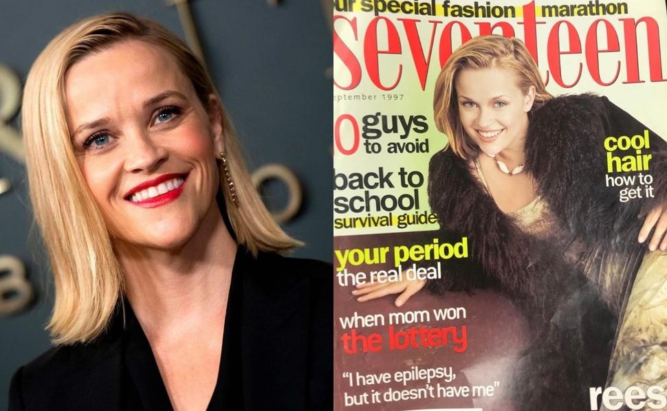 Риз Уизерспун показала обложку журнала, которую украсила 23 года назад