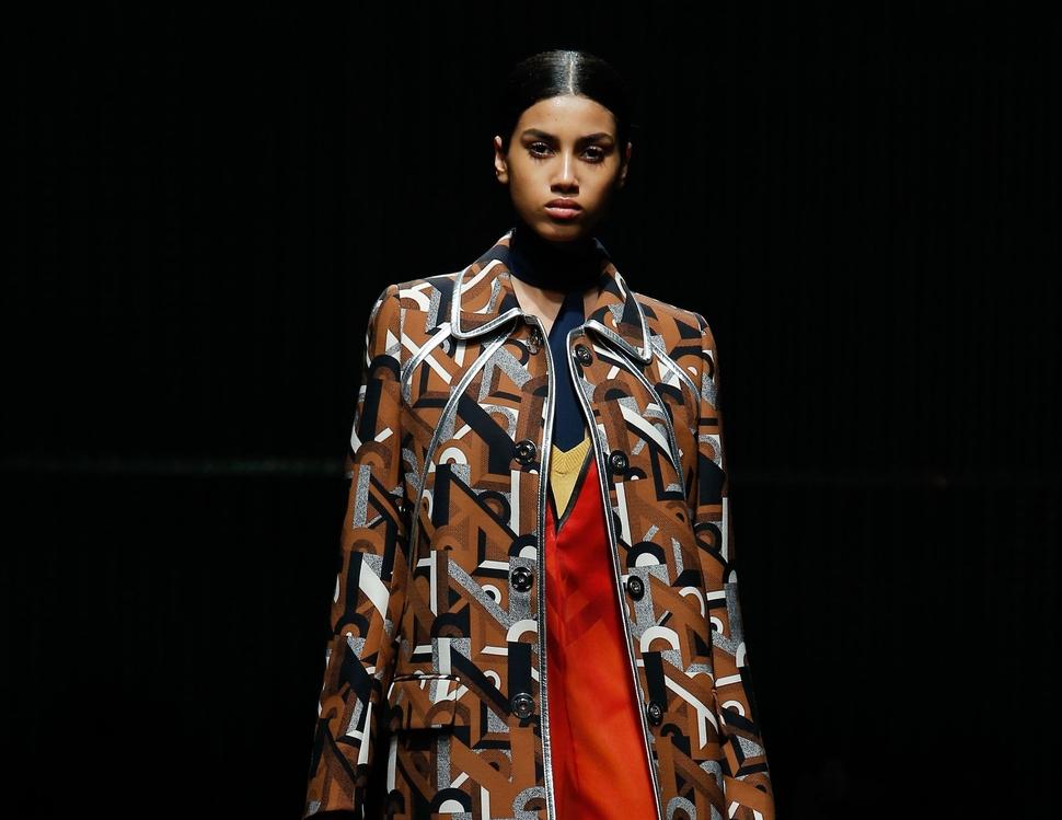 Модный показ новой коллекции Prada. Осень / зима 2014