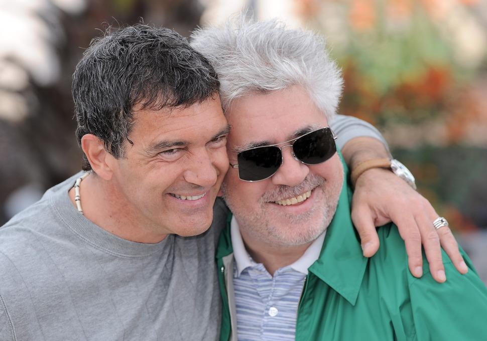 Антонио Бандерос и Педро Альмодовар в Каннах