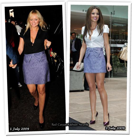Fashion battle: Эмма Бантон и Шерил Коул