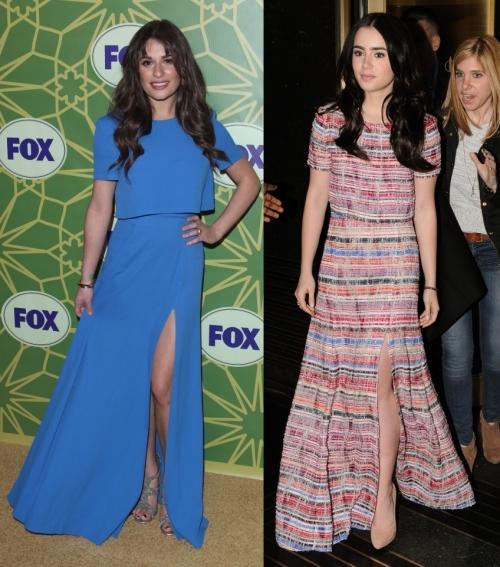 Fashion battle: Лиа Мишель и Лили Коллинз