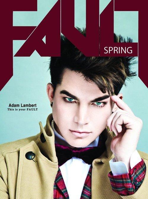 Адам Ламберт в журнале Fault. Март 2012