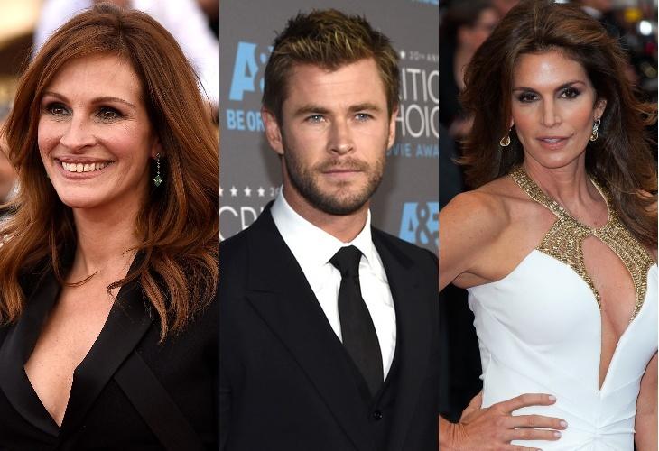 Крис Хемсворт, Джулия Робертс, Синди Кроуфорд и другие получат звезду на голливудской Аллее славы