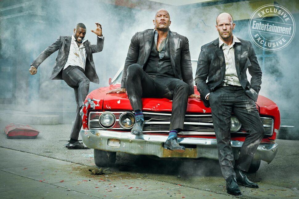 Могучая троица: Дуэйн Джонсон, Джейсон Стэтхэм и Идрис Эльба в фотосете для EW