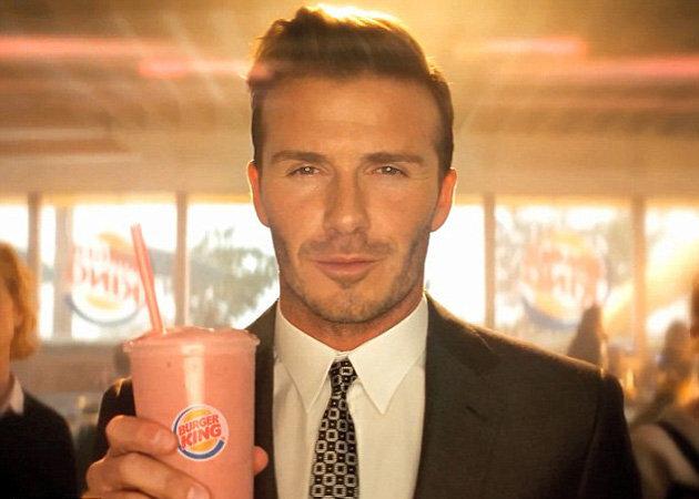 Дэвид Бэкхем в рекламе Burger King