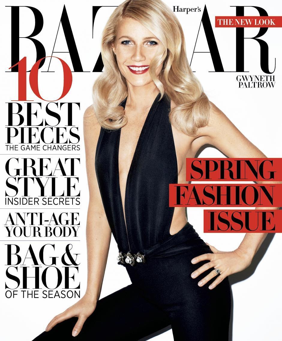 Гвинет Пэлтроу в журнале Harper's Bazaar. Март 2012