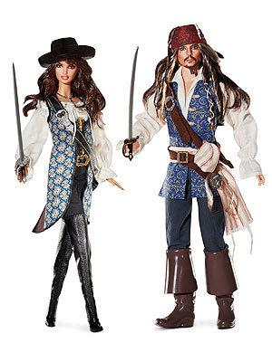 """Появились куклы Пенелопы Крус и Джонни Деппа в образах героев из фильма """"Пираты Карибского моря: на странных берегах"""""""