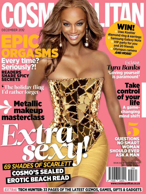 Тайра Бэнкс в журнале Cosmopolitan Южная Африка. Декабрь 2012