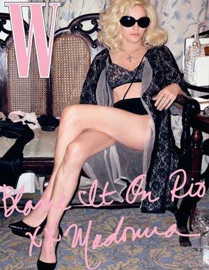 Мадонна и ее Иисус в журнале W. Март 2009