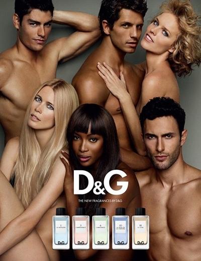 Рекламная кампания ароматов D&G Fragrance Anthology