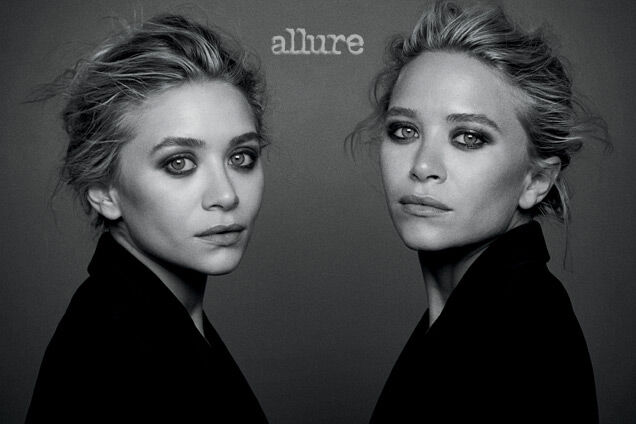Мэри-Кейт и Эшли Олсен в журнале Allure. Декабрь 2013