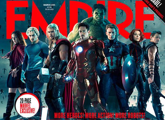 «Мстители» на обложке журнала Empire