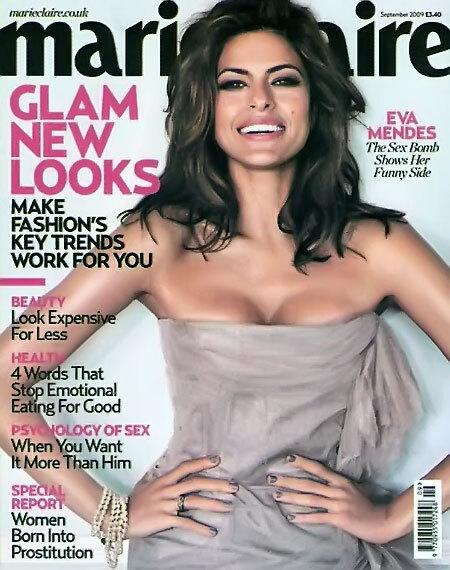 Ева Мендес в журнале Marie Claire UK. Сентябрь 2009