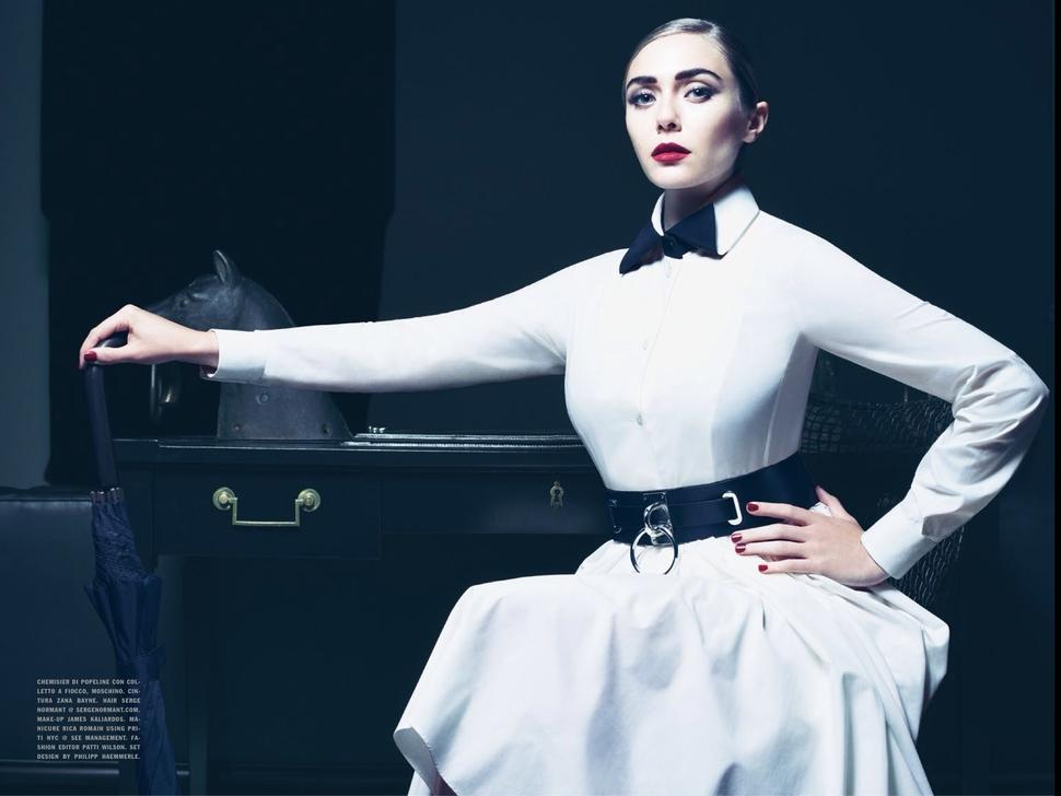 Элизабет Олсен в журнале Vogue Италия. Декабрь 2013
