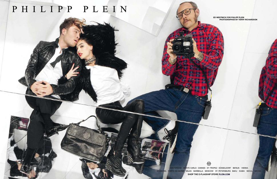 Эд Вествик в рекламной кампании  Philipp Plein. Осень / зима 2012