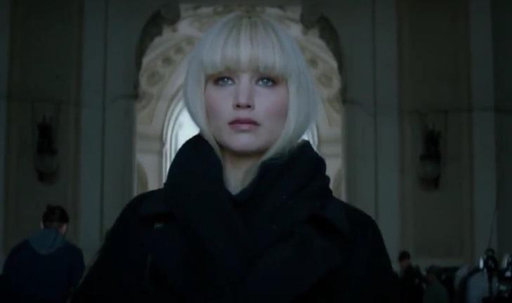 Дженнифер Лоуренс в дебютном трейлере шпионского триллера «Красный воробей»