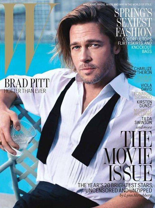 Брэд Питт в журнале W. Февраль 2012