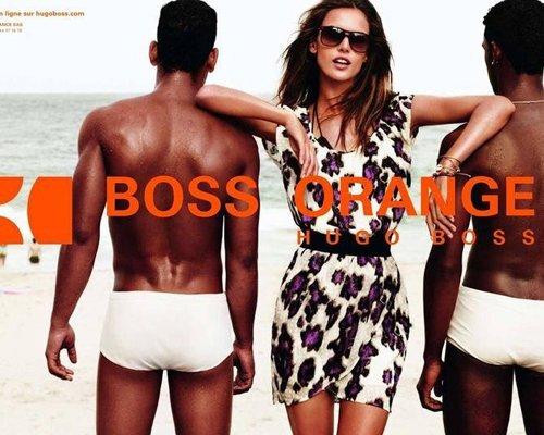 Алессандра Амбросио в рекламной кампании Hugo Boss Orange. Весна / лето 2012