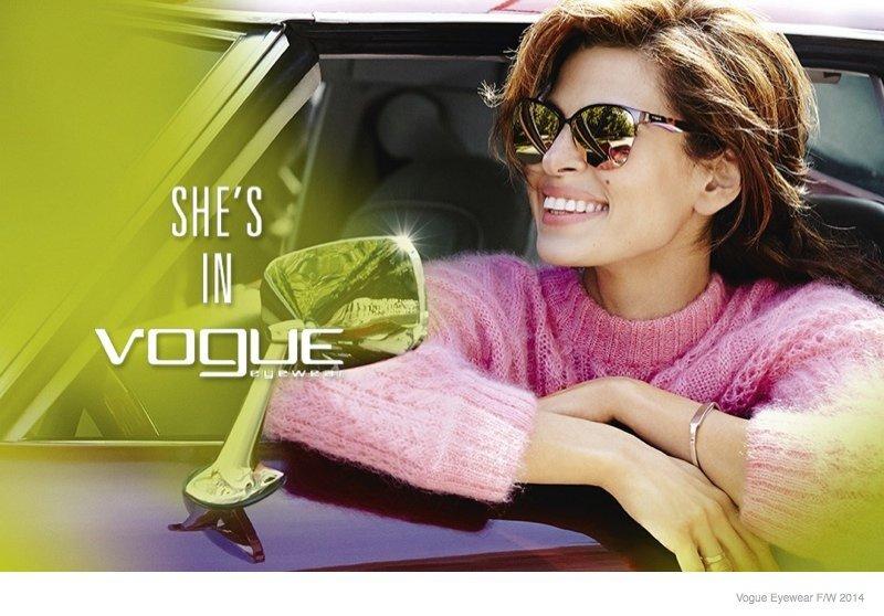 Ева Мендес в рекламной кампании Vogue Eyewear