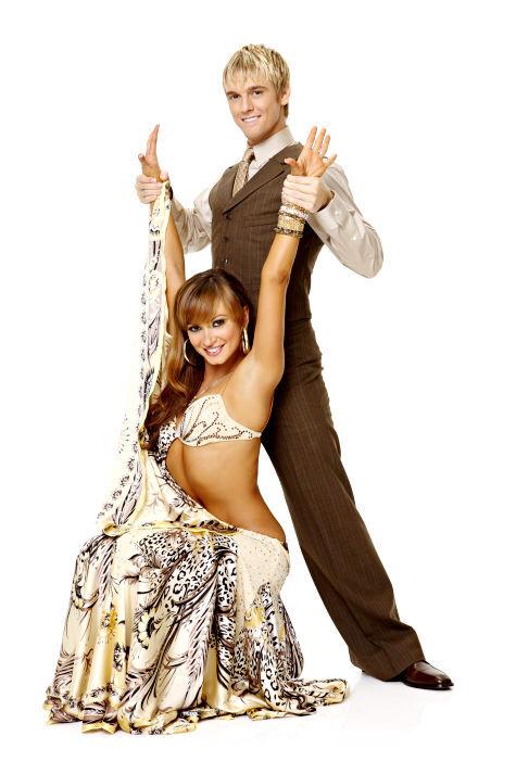 Аарон Картер и Келли Осборн в шоу «Танцы со звездами»