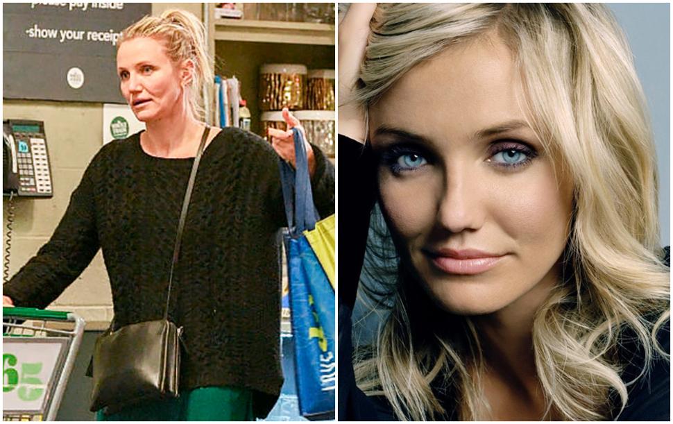 Расслабилась: постаревшую Камерон Диаз без макияжа и в шлепанцах сфотографировали на шопинге