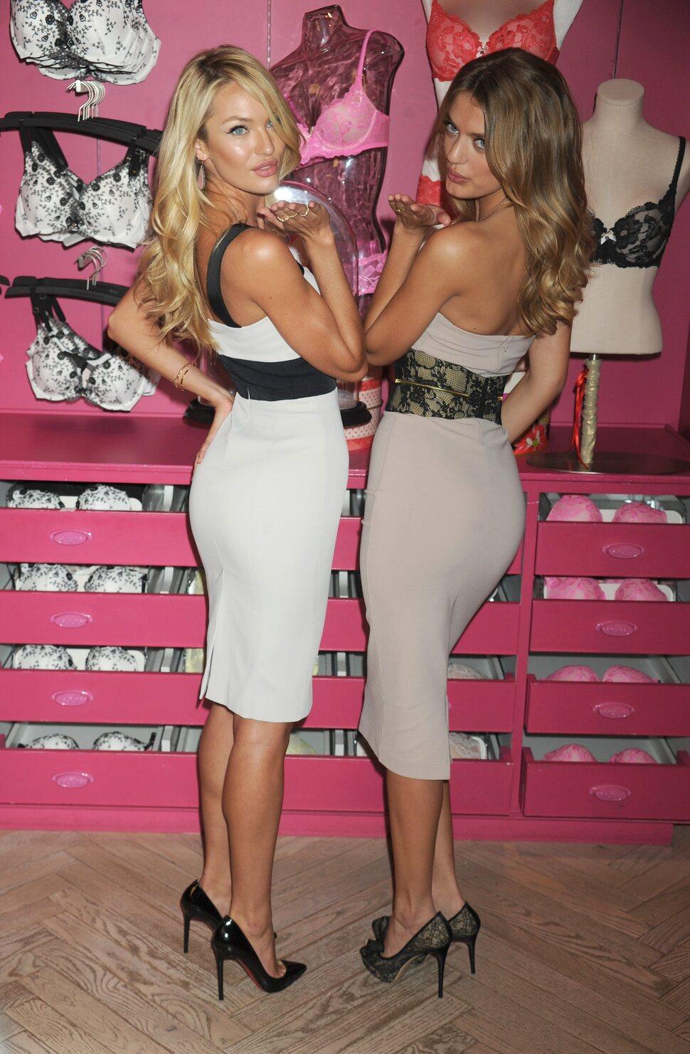 Кэндис Свэйнпоул на презентации новой линии нижнего белья Victoria's Secret