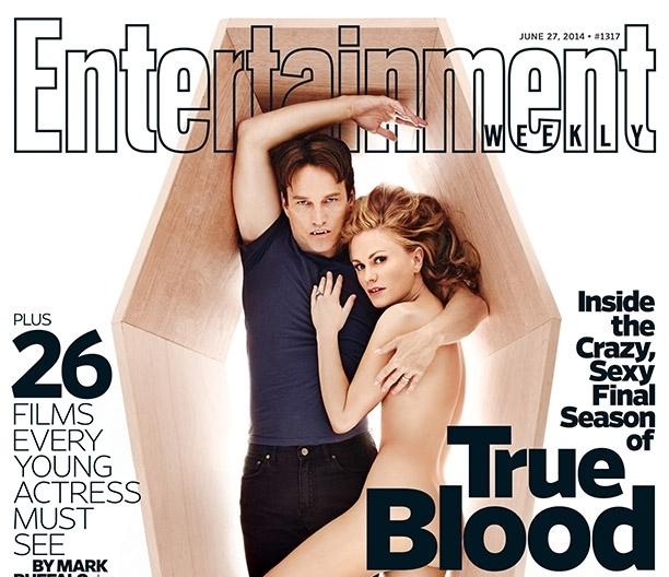Анна Пакуин и Стивен Мойер на обложке журнала Entertainment Weekly