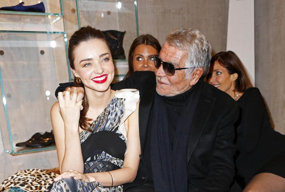 Миранда Керр на открытии магазина Roberto Cavalli