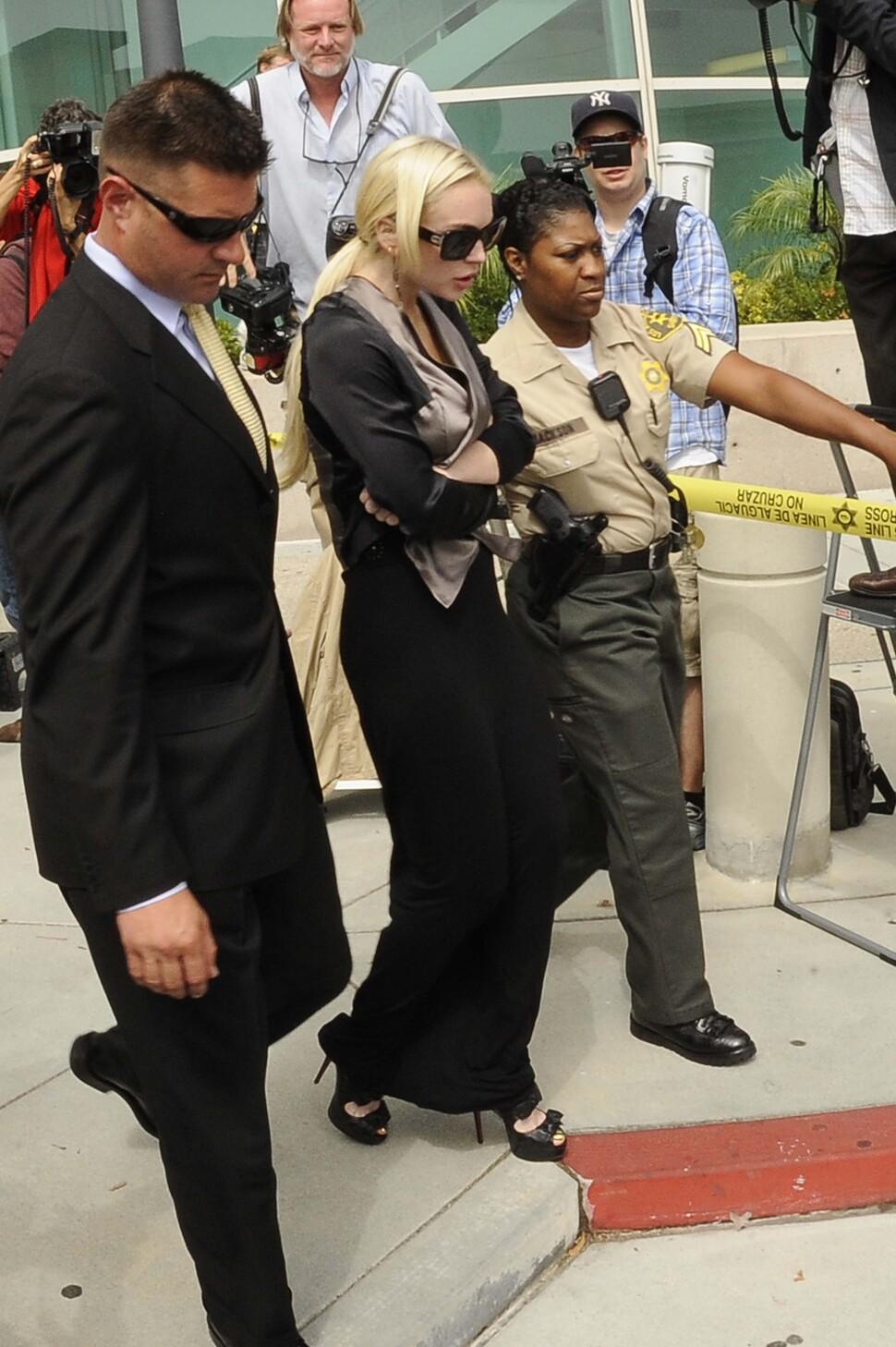 Линдсей Лохан отчиталась перед судом