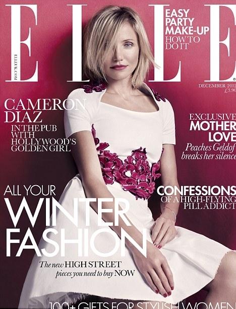 Кэмерон Диаз в журнале Elle Великобритания. Декабрь 2012