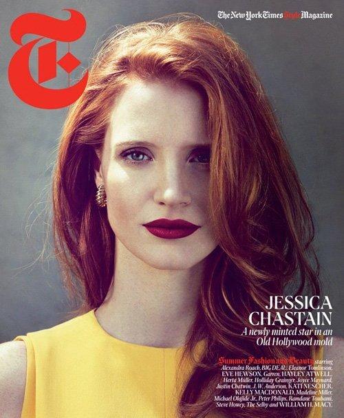Джессика Честейн в журнале The New York Times T Style. Лето 2012