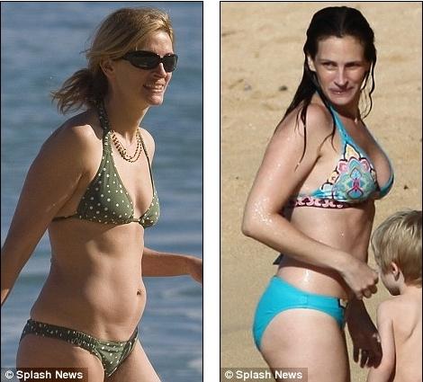 Джулия Робертс увеличила себе грудь?