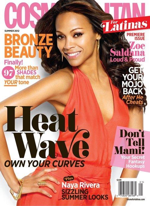 Зои Салдана в журнале Cosmopolitan Latinas. Лето 2012