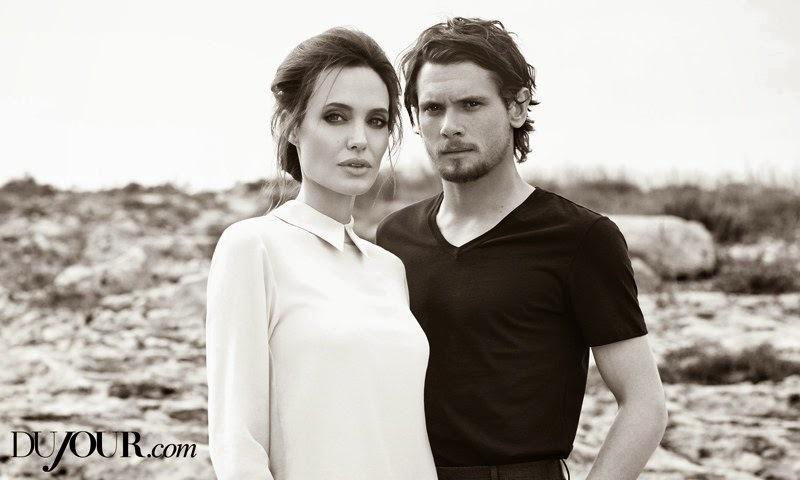 Анджелина Джоли и Джек О'Коннелл в журнале DuJour. Зима 2014-2015