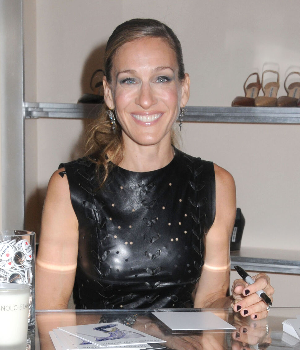 Сара Джессика Паркер в бутике Manolo Blahnik в рамках Недели моды в Нью-Йорке