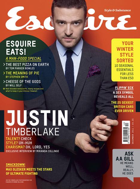 Джастин Тимберлейк в журнале Esquire UK. Декабрь 2011