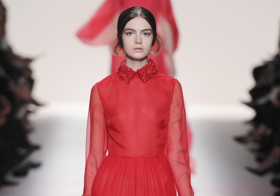 Модный показ новой коллекции Valentino. Осень / зима 2014