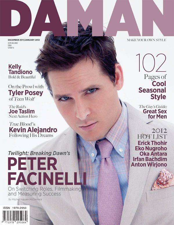 Питер Фачинелли в журнале Da Man. Декабрь/Январь 2011-2012