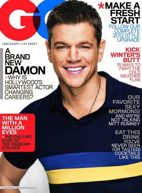 Мэтт Дэймон в журнале GQ. Январь 2012